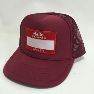HELLO MAY NAME IS....WAPPEN  MESH CAP