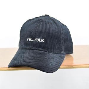 I'M...HOLIC CORDUROY CAP/BLACK