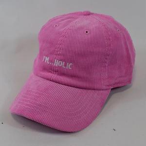 I'M...HOLIC CORDUROY CAP/PINK