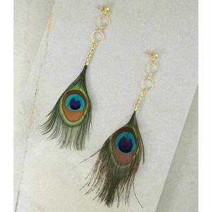 ピアス レディース K18 コート THE AZUL PEACOCK FEATHER EARRINGS アメリカン ブランド Vanessa Mooney ヴァネッサムーニー