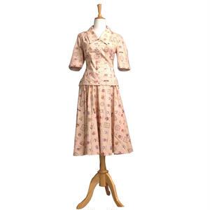 ブラウス スカート セットアップ レディース 半袖 50年代風 Miss Candyfloss ミスキャンディフロス Bobby Tanika