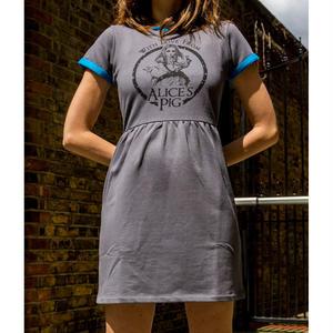 ワンピース レディース オーガニックコットン 半袖 グレー Alice's Pig アリスズピッグLEXI LOW Grey