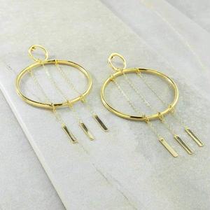 ピアス レディース K18 コート OUR INDEPENDENCE GOLD EARRINGS アメリカン ブランド Vanessa Mooney ヴァネッサムーニー