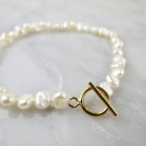Freshwater  pearl Blacelet【14kgf】