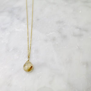 Rutilelated Quartz Necklace【14kgf】