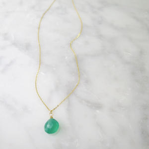 Green Onyx Necklace【14kgf 】