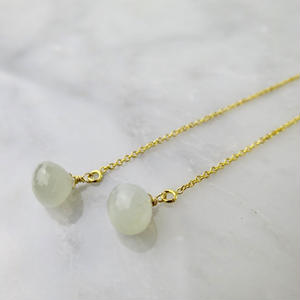 Moonstone American Pireced earrings【14kgf 】