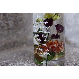 Bottled flower.