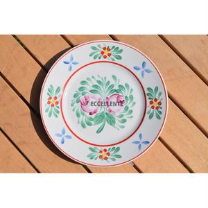 【東欧ヴィンテージ】【ホロハーザ】  ハンドペイントフォークロア飾り絵皿