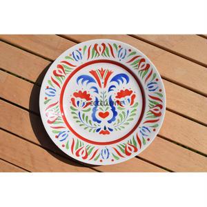 【東欧ヴィンテージ】【グラニト・ハンガリー】フォークロアフラワーハンドペイント飾り絵皿