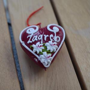 【東欧民芸品】【クロアチア】【ユネスコ無形文化遺産登録伝統工芸品!】リツィタル(ハート型・ザグレブ) 1個
