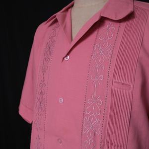 "【IMP-MIX-01S-LC】IMPORT GUAYABERA  S/S   ""LIGHT CORAL""サイズ 36(M),38(L)"