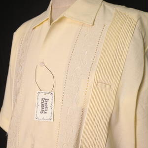 "【IMP-DSU-01S-OF】IMPORT GUAYABERA  S/S   ""OFF WHITE""  サイズ40(XL)"