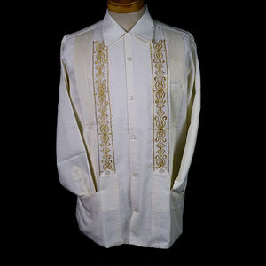 "[ESG01LOFG] L/S  OFF WHITE ×  GOLD ""ORIGINAL GUAYABERA"""