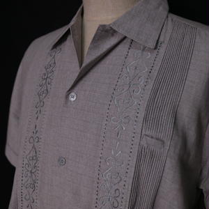 "サイズ 36(M)【IMP-ALAM-01S-HG-2】IMPORT GUAYABERA  S/S   ""HEATHER GRAY-2"""