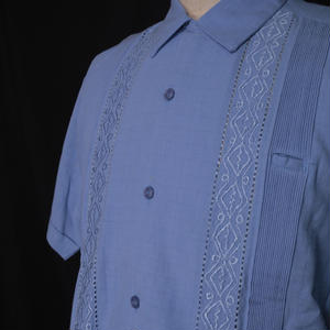"【IMP-MJ-01S-LB】IMPORT GUAYABERA  S/S   ""LIGHT BLUE""  サイズ36(M)"