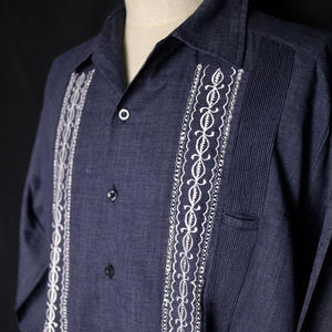 "【IMP-DAV-01L-HG-1】IMPORT GUAYABERA  L/S   CHAMBRAY ""HEATHER GRAY"" サイズ38(L)"