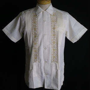 "[ESG01SOFG] S/S OFF WHITE × GOLD ""ORIGINAL GUAYABERA"""