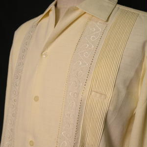 "【IMP-ALAM-01L-OF】IMPORT GUAYABERA  L/S   ""OFF WHITE"" サイズ34(S)"