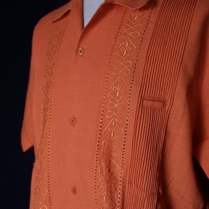 "【IMP-ANG-01S-OR】IMPORT GUAYABERA  S/S  ""ORANGE""サイズ38"