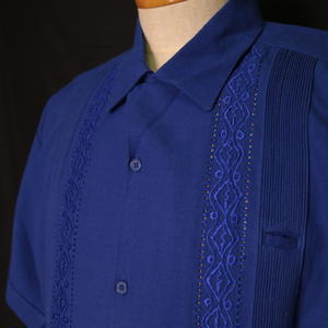 "サイズ38(L)【IMP-MJ-01S-RB】IMPORT GUAYABERA  S/S  ""ROYAL BLUE"""