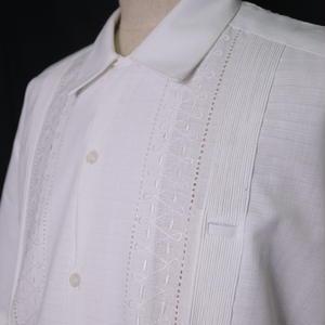 """サイズ40(XL)【IMP-MJ-01S-W-1】IMPORT GUAYABERA  S/S   """"WHITE-1"""""""