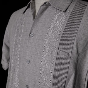 "【IMP-ALAM-01S-HG】IMPORT GUAYABERA  S/S  ""HEATHER GRAY""サイズ34(S),36(M)"