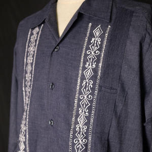 "【IMP-DAV-01L-HG-2】IMPORT GUAYABERA  L/S   CHAMBRAY ""HEATHER GRAY"" サイズ38(L)"