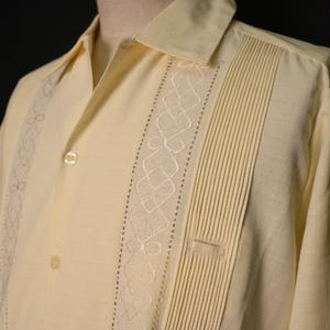 "【IMP-ALAM-01L-OF】IMPORT GUAYABERA  L/S   ""OFF WHITE"" サイズ36(M)"