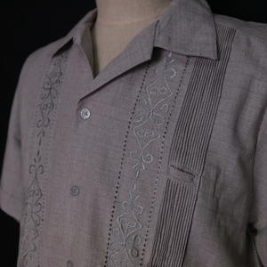 "サイズ 36(M)【IMP-ALAM-01S-HG-1】IMPORT GUAYABERA  S/S   ""HEATHER GRAY-1"""