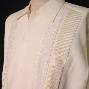 "【IMP-DSU-01L-OF】IMPORT GUAYABERA  L/S   ""OFF WHITE"" サイズ42(XXL)"