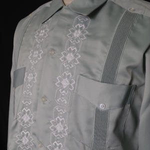 "【IMP-YUC-03L-ALB】IMPORT GUAYABERA  L/S  ""ASH LIGHT BLUE"" サイズ36(M)"