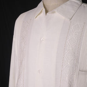 "【IMP-ALAM-01L-OF】IMPORT GUAYABERA  L/S   ""OFF WHITE"" サイズ44(3XL)"