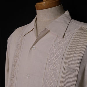 "【IMP-ALAM-01L-CR】IMPORT GUAYABERA  L/S   ""CREAM"" サイズ36(M)"
