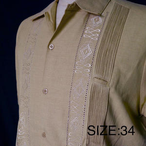 """サイズ34(XS),38(L)【IMP-ALAM-01S-BE】IMPORT GUAYABERA  S/S   """"BEIGE"""""""