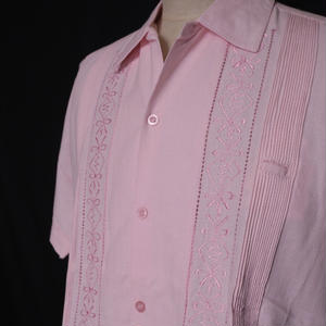 "【IMP-ALAM-01S-LP】IMPORT GUAYABERA  S/S   ""LIGHT PINK"" サイズ34(XS)"