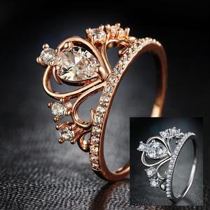 【Fcstyle】【送料無料】王冠型のエレガントなリング 指輪 アクセサリー ゴールド シルバー エレガント