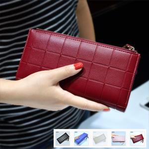 大人可愛いカラーとシンプルなデザインがかわいい長財布