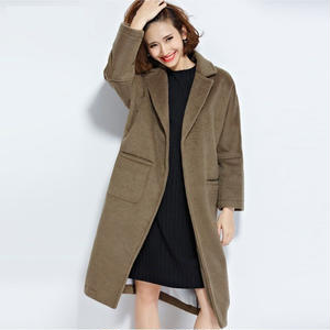 ブラウンカラーが大人可愛いオーバーコート