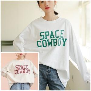 トップス Tシャツ オーバーサイズ ゆったり 英字 ロゴ 韓国ファッション 1449