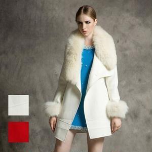 ゴージャスファーの上品ジャケットコート