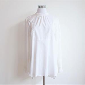 プリーツカフスシャツ/White