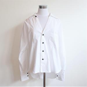 オープンカラービッグシャツ/White