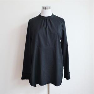 プリーツカフスシャツ/Black