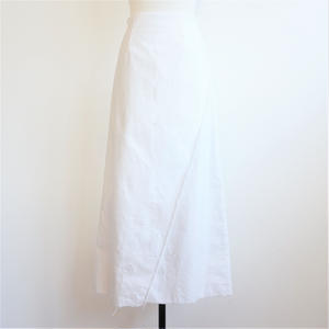 ラップロングスカート/White
