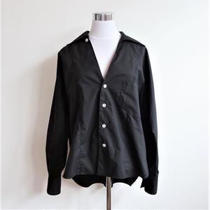 オープンカラービッグシャツ/Black