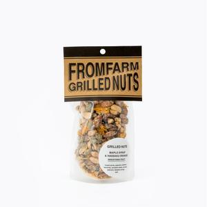 FROM FARM/GRILLED NUTS(ミックスナッツ)-MAPLE SYRUP&HASSAKU ORANGE(メイプルシロップ&はっさく)180g