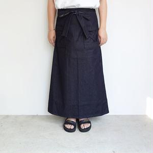 homspun ウエポンデニム バックラップタイトスカート