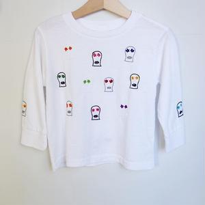 OAXACA kid's Flower Skull L/S T Shirts
