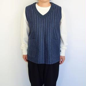 Slow Hands wool stripe smock vest